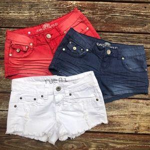 Pants - Set of 3 Jean Shorts